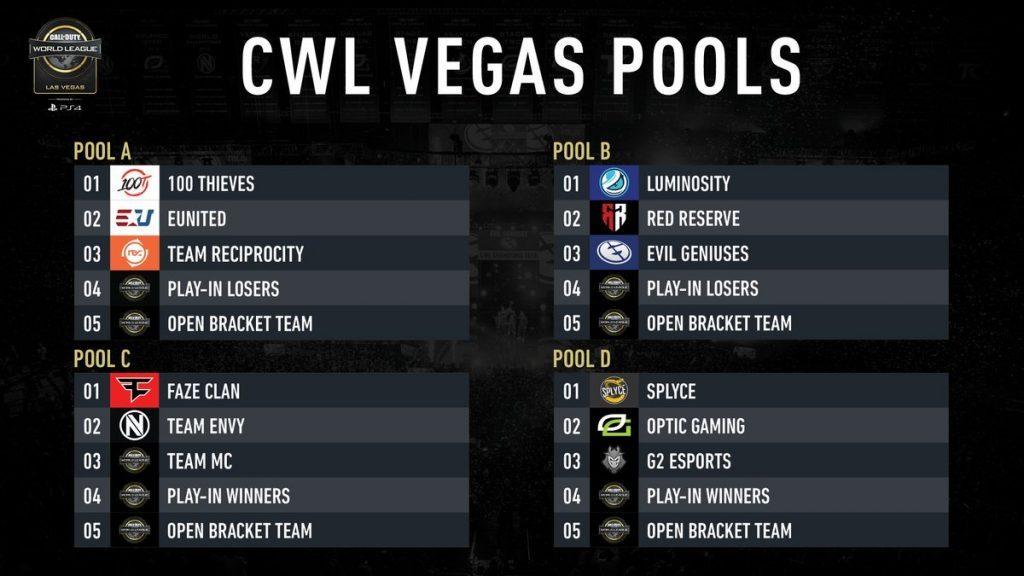 CoD: Así han quedado los grupos para la CWL de Las Vegas.